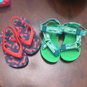 Boys sandals size 7...lot of two